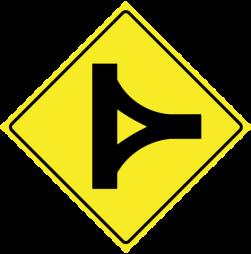 Delta junction traffic sign