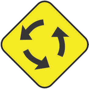 Roundabout traffic sign
