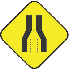 Reducing the road traffic sign