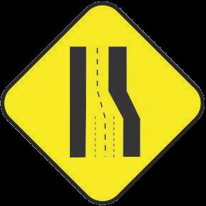 Reducing the lane traffic sign