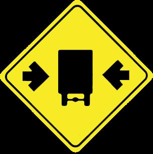Width limit traffic sign