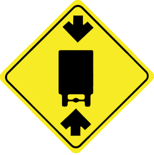 Height limits traffic sign