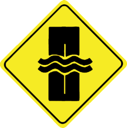 Water stream traffic sign
