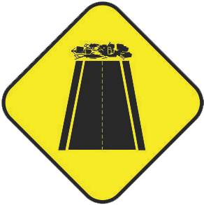 End of Pavement traffic sign