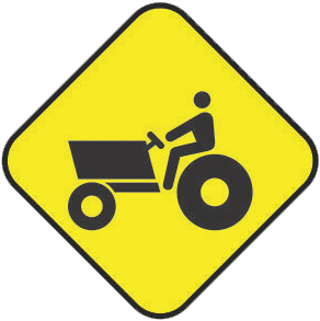 Agricultural machinery traffic sign