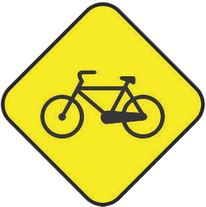 Cyclists traffic sign