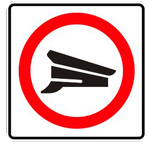 Inspection traffic sign