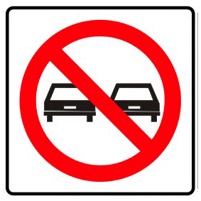 No passing traffic sign