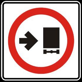 Trucks keep right traffic sign