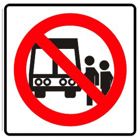 Banned stop traffic sign