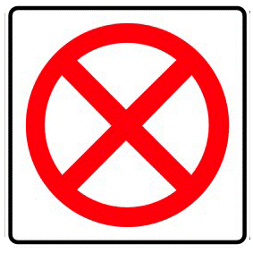 No stop traffic sign