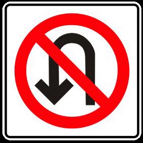 Forbidden return traffic sign