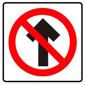 Forbidden to go head-on traffic sign