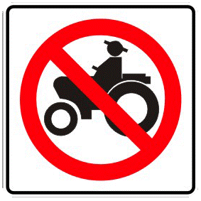 No passage to agricultural machinery traffic sign