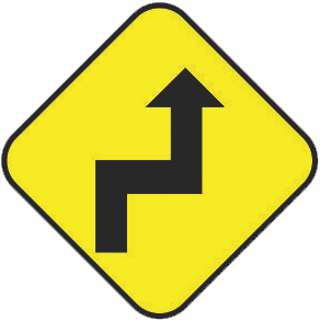 Severe Curves traffic sign