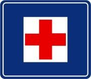 First Aid traffic sign