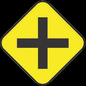 Crossing traffic sign