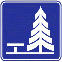 Outdoor dining traffic sign