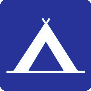 Camping Zone traffic sign