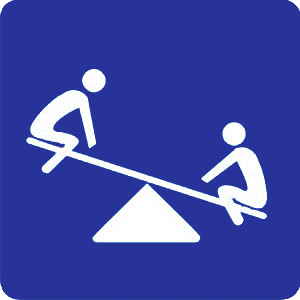 Children's games traffic sign