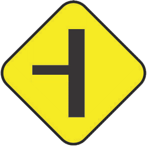 Junction traffic sign
