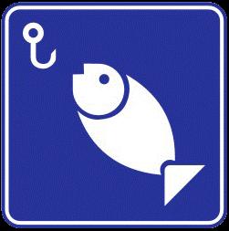 Fishing traffic sign