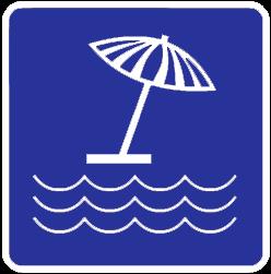 Beach traffic sign