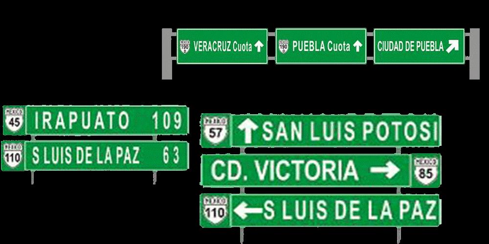 Destination traffic sign