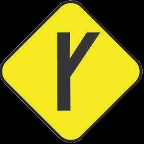 Fork traffic sign